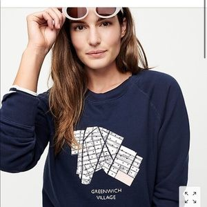 """Greenwich Village"" pullover sweatshirt M"